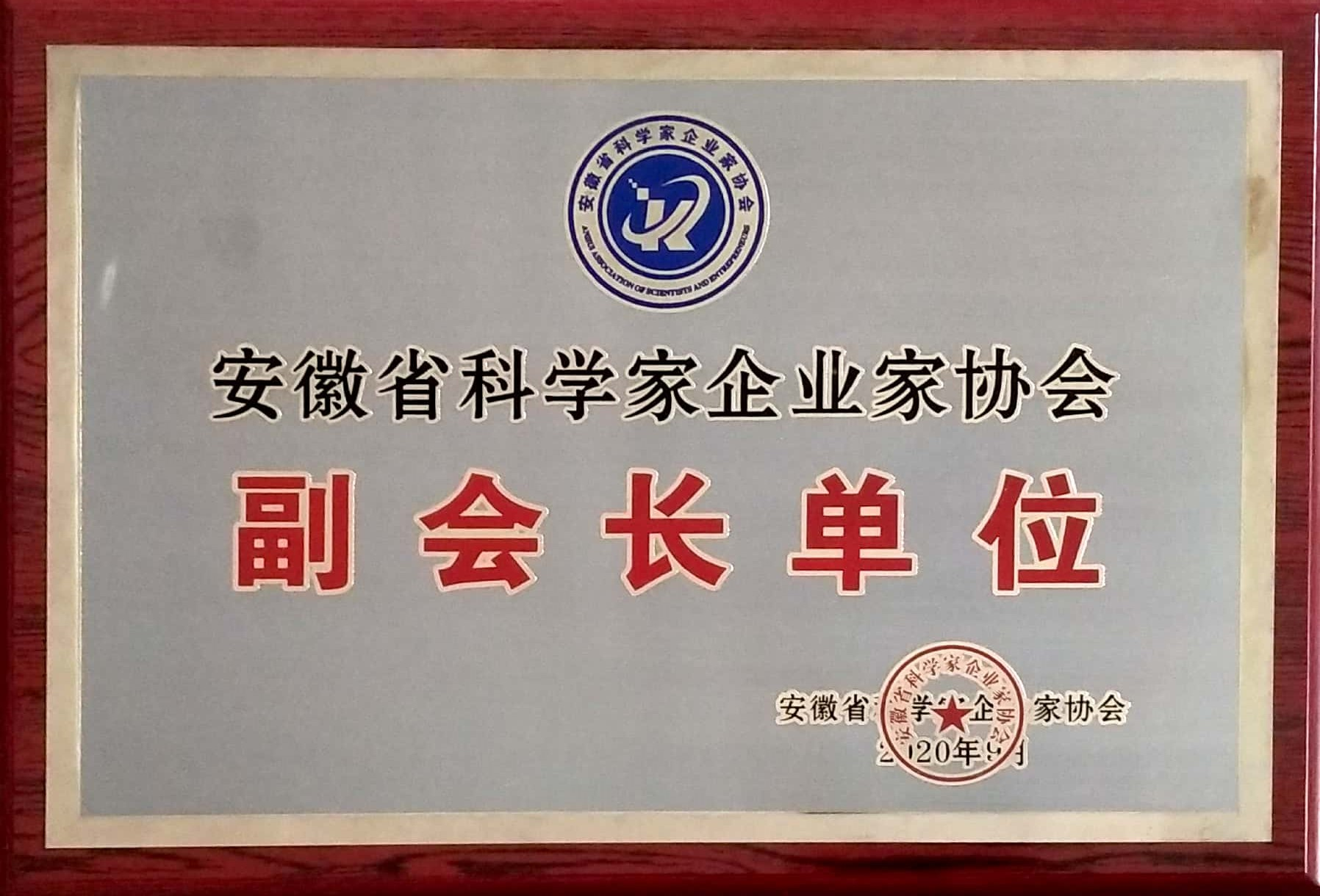 安徽省科学家企业家协会副会长单位