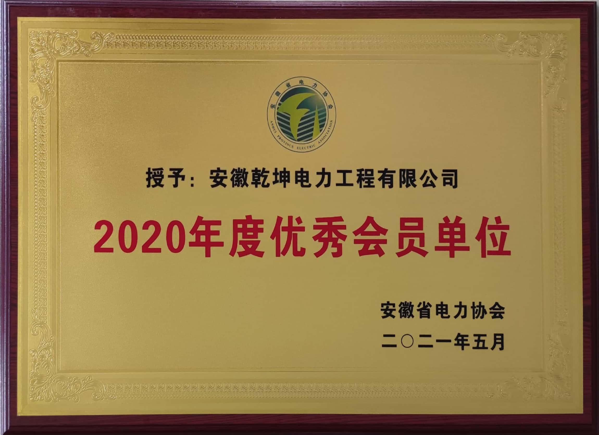 2020年度优秀会员单位
